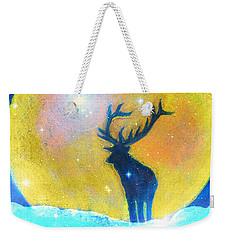 Stag Of Winter Weekender Tote Bag