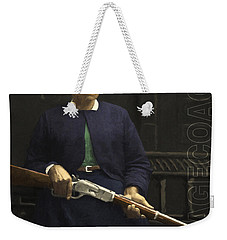 Stagecoach Mary Fields 20130518 Square With Text Weekender Tote Bag