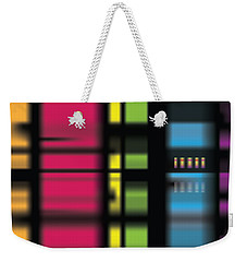 Weekender Tote Bag featuring the digital art Stainbow by Kevin McLaughlin