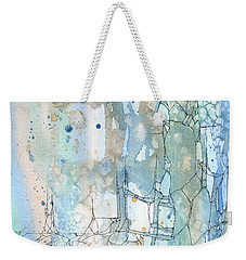 Weekender Tote Bag featuring the painting Stained Cracks by Rebecca Davis