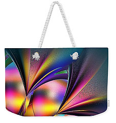 Stained Glass Flower Weekender Tote Bag
