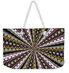 Weekender Tote Bag featuring the photograph Stained Glass Kaleidoscope 1 by Rose Santuci-Sofranko