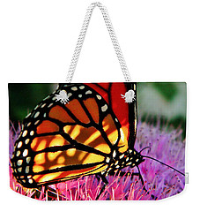 Stained Glass Monarch  Weekender Tote Bag by Chris Berry