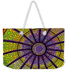 Weekender Tote Bag featuring the photograph Stained Glass by Sue Melvin