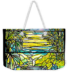 Stained Glass Tiffany Holy City Memorial Window Weekender Tote Bag
