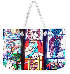 Stained Glass Window Weekender Tote Bag by John Williams