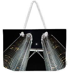 Stainless Steel Moon Weekender Tote Bag