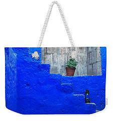 Staircase In Blue Courtyard Weekender Tote Bag