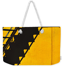 Weekender Tote Bag featuring the photograph Staircase Shadow by Silvia Ganora