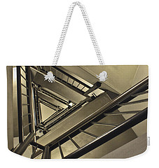 Weekender Tote Bag featuring the photograph Stairing Up The Spinnaker Tower by Terri Waters