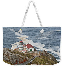 Stairway Leading To Point Reyes Lighthouse Weekender Tote Bag by Jeff Goulden