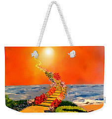 Weekender Tote Bag featuring the painting Stairway To Heaven by Michael Rucker