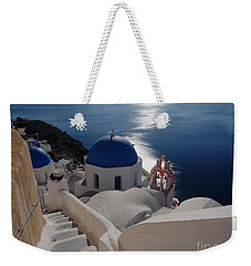 Stairway To The Blue Domed Church Weekender Tote Bag by Lucinda Walter