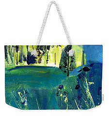 Stand Of Trees In Distance Weekender Tote Bag
