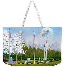 Standing Guard Over Veterans Park Weekender Tote Bag