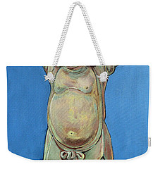 Weekender Tote Bag featuring the painting Standing Happy by Tom Roderick