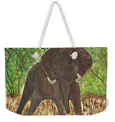 Weekender Tote Bag featuring the painting Standing My Ground by Tracey Williams