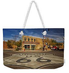 Standing On The Corner In Winslow Arizona Dsc08854 Weekender Tote Bag by Greg Kluempers