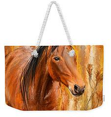 Standing Regally- Bay Horse Paintings Weekender Tote Bag