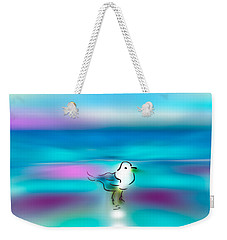 Weekender Tote Bag featuring the mixed media Standing Seagull by Frank Bright