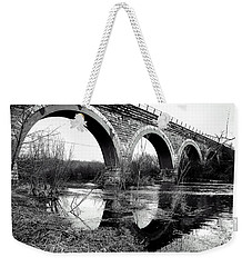 Weekender Tote Bag featuring the photograph Standing Still by Viviana  Nadowski