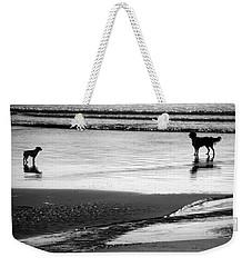 Standoff At The Beach Weekender Tote Bag