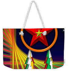 Weekender Tote Bag featuring the digital art Star by Cyril Maza