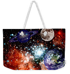 Star Field With Planets Weekender Tote Bag