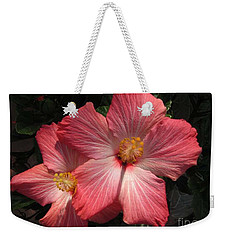 Weekender Tote Bag featuring the photograph Star Flower by Barbara Griffin