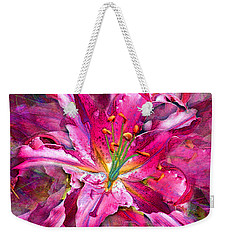 Star Gazing Stargazer Lily Weekender Tote Bag