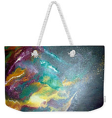 Weekender Tote Bag featuring the painting Star Nebula by Carrie Maurer