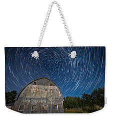 Star Trails Over Barn Weekender Tote Bag