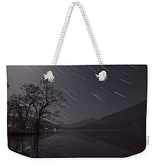 Star Trails Over Lake Weekender Tote Bag