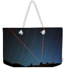 Star Trails Over Mauna Kea Observatory Weekender Tote Bag
