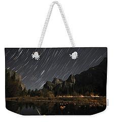 Star Trails Over Yosemite Weekender Tote Bag