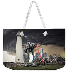 Weekender Tote Bag featuring the photograph Star Wars All Terrain Armored Transport by Nicholas  Grunas