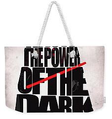 Star Wars Inspired Darth Vader Artwork Weekender Tote Bag by Ayse Deniz