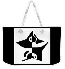 Weekender Tote Bag featuring the digital art Star by Wendy J St Christopher