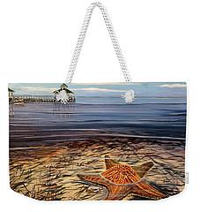 Starfish Drifting Weekender Tote Bag by Marilyn  McNish