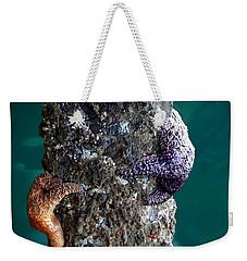 Starfish Under The Pier Weekender Tote Bag