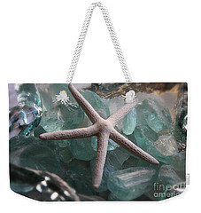 Weekender Tote Bag featuring the photograph Starfish With Sea Glass by The Art of Alice Terrill