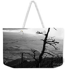 Weekender Tote Bag featuring the photograph Stark Tree by Mary Carol Story