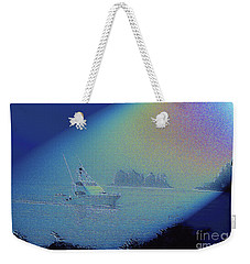 Weekender Tote Bag featuring the digital art Starlight Cruising by Victoria Harrington