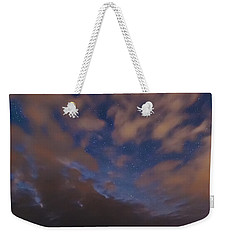 Weekender Tote Bag featuring the photograph Starlight Skyscape by Marty Saccone