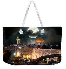 Starry Night At The Dome Of The Rock Weekender Tote Bag by Doc Braham