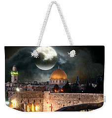 Full Moon At The Dome Of The Rock Weekender Tote Bag