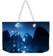 Weekender Tote Bag featuring the digital art Starry Night by GJ Blackman