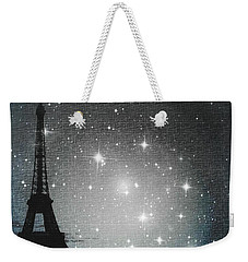 Starry Night In Paris - Eiffel Tower Photography  Weekender Tote Bag