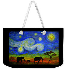 Starry Night Over Africa Weekender Tote Bag