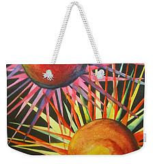 Stars With Colors Weekender Tote Bag by Chrisann Ellis